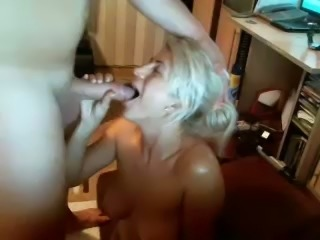 Blond haired too pale amateur cam bitch was bent over and fucked doggy