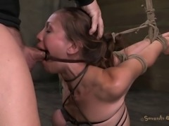 Audrey's new companions are about to attack her with their dicks!