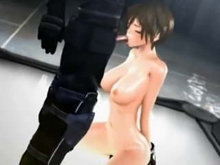 cartoon cutie preps her horny boss for the mission