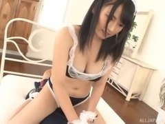 Satomi's partner gives her both the vibrations and his stiff pecker