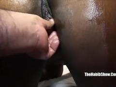 thick black chocoalte fucked by hairy paki p2