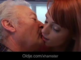 Lucky grandpa Gustavo fucks sexy babe Erica Fontes