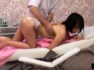 Dazzling Asian girl has a masseur fingering and pounding he