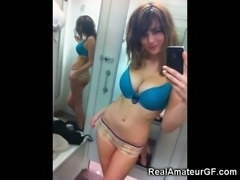 Well endowed teens in changing rooms for your viewing pleasure