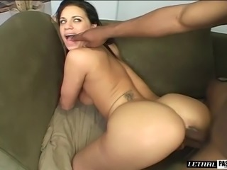 Big chocolate cock is just the thing that the curvy Mia wanted!