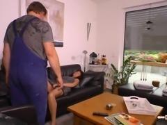 Hausfrau Ficken - Heiße Reife deutsche Amateure ficken nackt im Wohnzimmer...