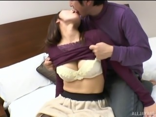 Is this cute Asian brunette really ready for the rough shagging?