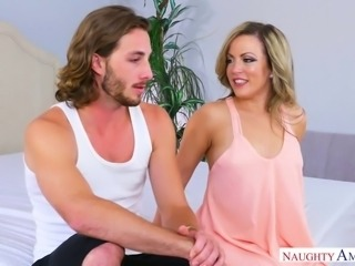 Sluttishly looking chick with pierced tongue Carmen Valentina enjoys having crazy sex