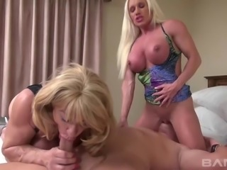 Both of them are busty and want to do some sweet cock riding