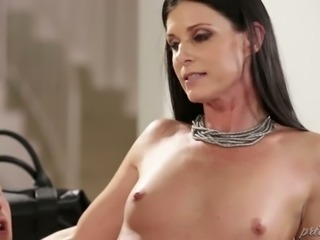 Leggy skilled blackhead India Summer shares giant dick with small tittied...