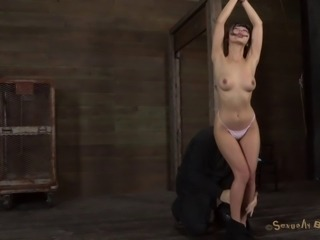 Asian woman lets a horny master make her feel like a slave