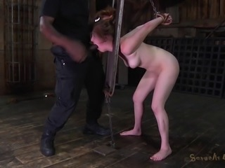 Black cock for the pale Jessie Parker right there in the basement