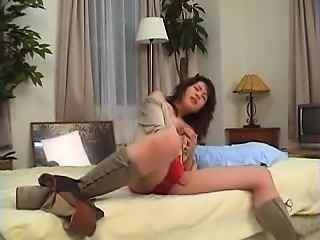 Sultry Japanese mom with big natural boobs has a hunger for