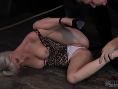 A very elaborate punishment for the cute blonde Cherry Torn