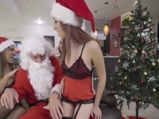 Aubrey Rose, Kiley Jay In Christmas Party