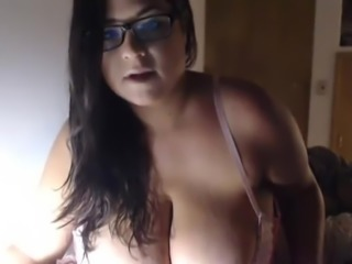 Massively busty camgirl teases with her ginormous boobs
