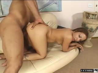 Seductive hot ass cowgirl moans when pounded hardcore doggystyle