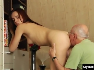 It's Daniela's best chance to finally have a taste of the mature cock