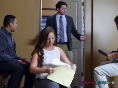 Secretary Maddy Oreilly Gets Bent Over By Horny Boss