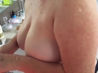 Wife after shower