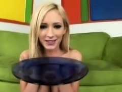 Busty blonde hooker has a group of black stallions hammering her holes