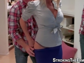 Real milf fucks stepson