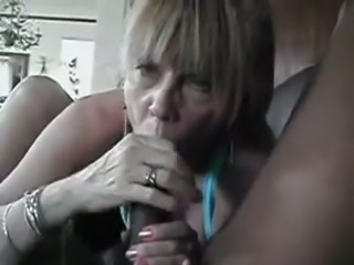 Nasty granny sucking big dick balls deep in old and young amateur video