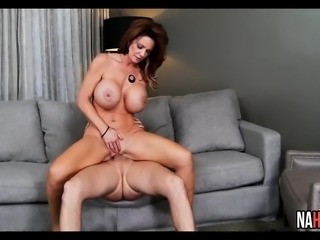Big Tits Brunette MILF Loves Young Thick Long Cock Deauxma,