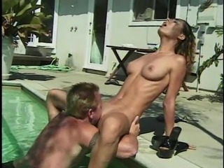 Tattooed dame shaved pussy ravished hardcore till getting facial cumshot
