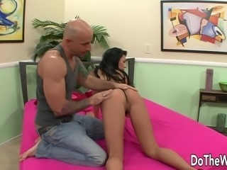 Husband watches wife fuck another man