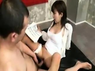 Attractive Japanese wife gets drilled deep and enjoys inten