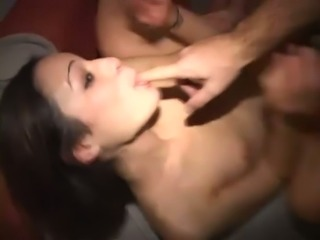 Nice party ends up with hard fuck for lovely black haired chick Amber Rayne