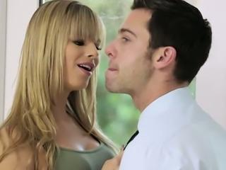 Hot babe Jillian Janson wants sex and she isn't taking no for an answer