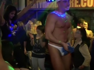 Drunk sexy brunettes gets Messy in Hardcore club party