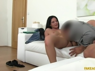It was my first modelling job, so I thought it was compulsory to remove all clothes. He started filming and asked me to moan, while rubbing pussy. I was caressing my breasts, and stimulating my cunt, when he removed his pants and asked for a blowjob. He ate my pussy, rubbed cock on my butt and fucked my asshole.