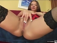 Big breasted chick spreads her sexy legs for an engorged love tool