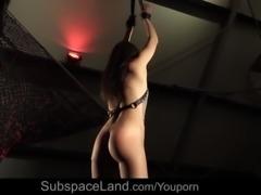 Slutty sub girl squirting in bdsm punishment of bad behavior