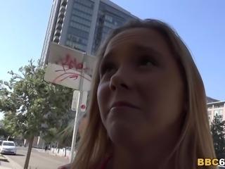 Hollie Mack tries big black cock first time
