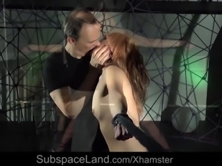 Submissive girl bondage fucked by the rule must swallow cum