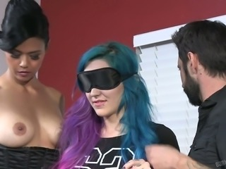 Crazy ideas of nasty emo slut Joanna Angel in hot backstage video