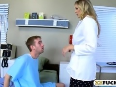 Huge juggs doctor fucked by her patient in the hospital