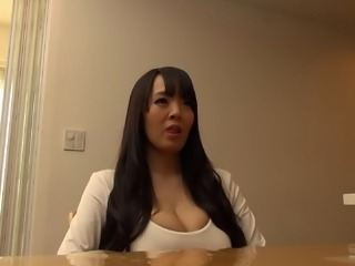 Her big tits jiggle when this guy fucks her while she lays back
