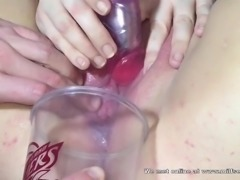 MILF from internet squirting and drinking it