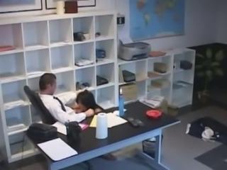 Shagging slutty secretary with big boobs in my office