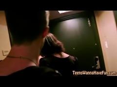Teen slut cum covered