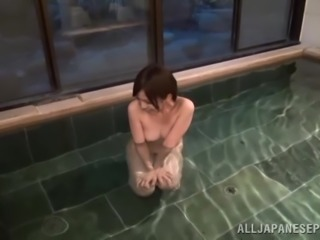Japanese Slut Gives A Yummy Blowjob And Titjob While Taking A Hot Bath