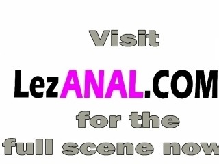 Samantha blonde anal lesbian strap on threesome