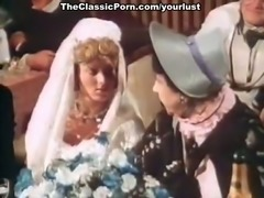 Freaky vintage sex show right on the celebration of wedding