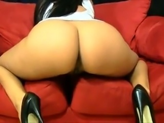 Sexy girl  masturbates on a couch after we had hot date