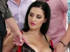 Kate Black gangbanged brutally in hardcore video